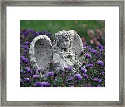 Angel Framed Print by Gwen Allen