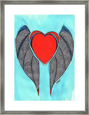 Angel Heart Framed Print by Ronald Woods