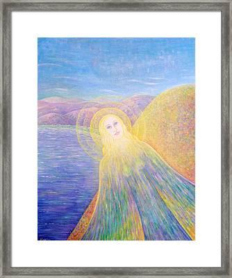 Angel Framed Print by Hiske Tas Bain