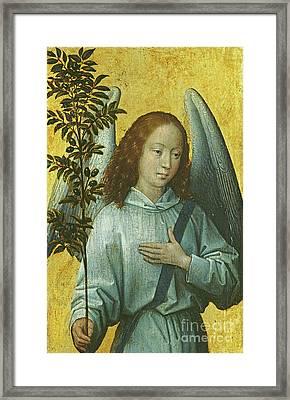 Angel Holding An Olive Branch Framed Print