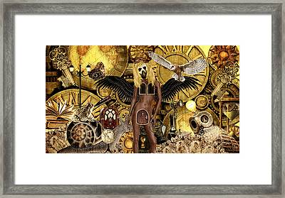 Angel In Disguise  Framed Print by Ally  White