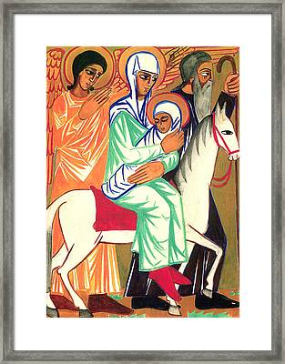 Angel In Orange Framed Print by Munir Alawi