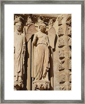 Angel In Reims Framed Print