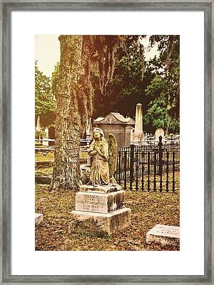 Angel In Stone Framed Print by JAMART Photography