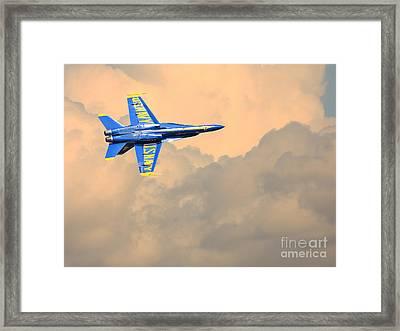 Angel In The Cloud Framed Print
