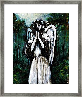 Angel In The Garden Framed Print