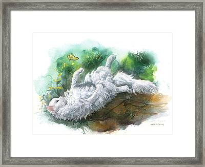 Framed Print featuring the painting Angel In The Morning by Sherry Shipley