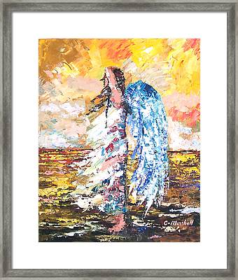Angel In The Wind Framed Print by Claude Marshall