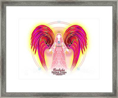 Framed Print featuring the digital art Angel Intentions Divine Timing by Barbara Tristan