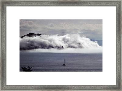 Angel Island Fog Framed Print