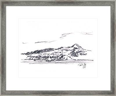 Angel Island From Sausalito Framed Print by Paul Gaj