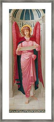 Angel Framed Print by John Melhuish Strudwick