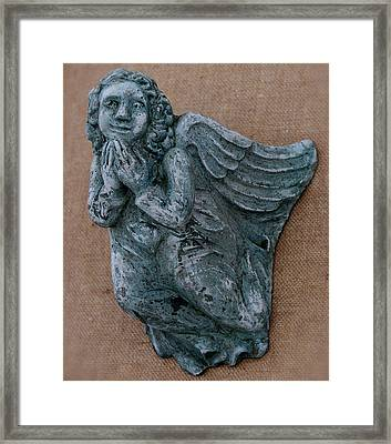 Angel Framed Print by Katia Weyher