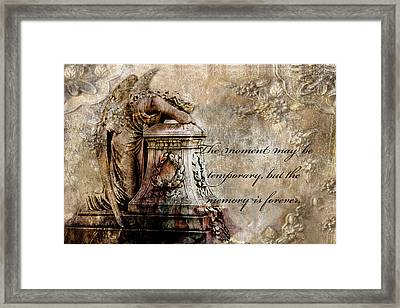 Angel Laying On Coffin Inspirational Angel Art Framed Print by Kathy Fornal