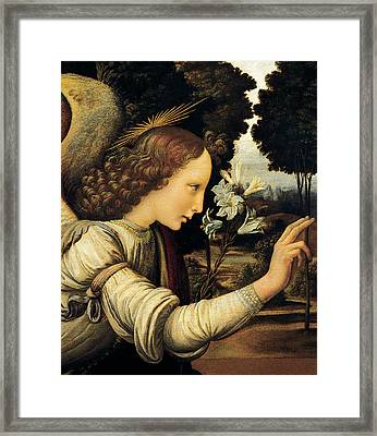 Angel Framed Print by Leonardo Da Vinci