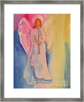 Angel Light Framed Print by Linda Rupard