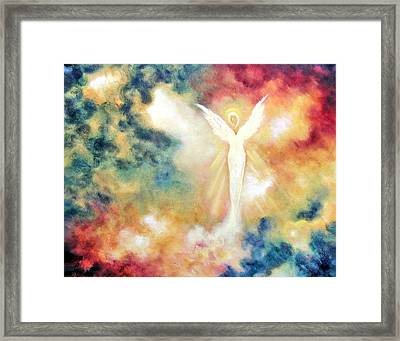 Framed Print featuring the painting Angel Light by Marina Petro