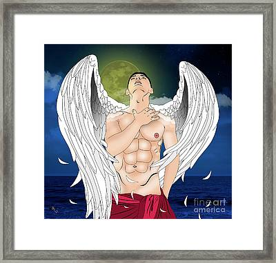 Angel Love  Framed Print by Mark Ashkenazi