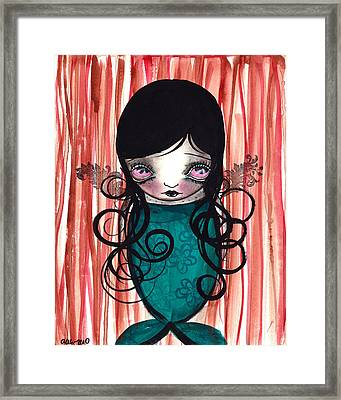 Angel Mermaid Framed Print by  Abril Andrade Griffith