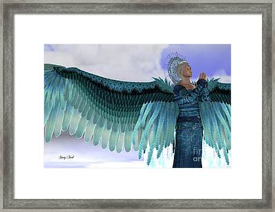 Angel Michael Framed Print by Corey Ford