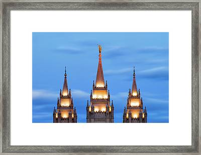 Angel Moroni Spires Framed Print