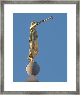 Angel Moroni Statue Framed Print by Wayne Whitney