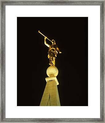 Angel Moroni Framed Print