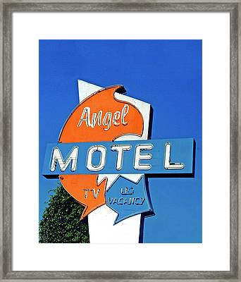 Framed Print featuring the photograph Angel Motel by Matthew Bamberg