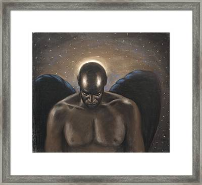 Angel Noir Framed Print