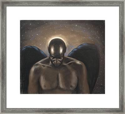 Angel Noir Framed Print by L Cooper