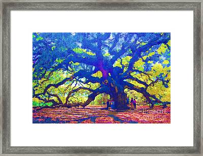 Framed Print featuring the photograph Angel Oak Tree by Donna Bentley