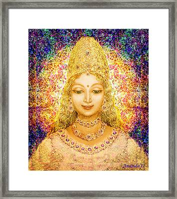 Angel Of Beauty In Blue Framed Print