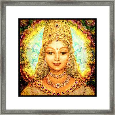 Angel Of Beauty, Round Framed Print