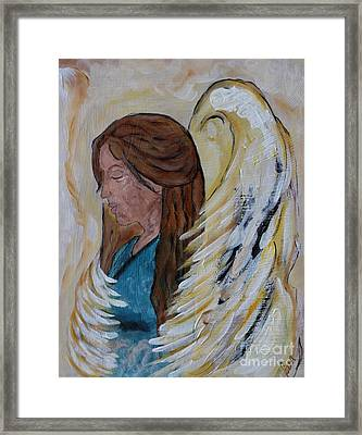 Angel Of Comfort Framed Print by Ella Kaye Dickey