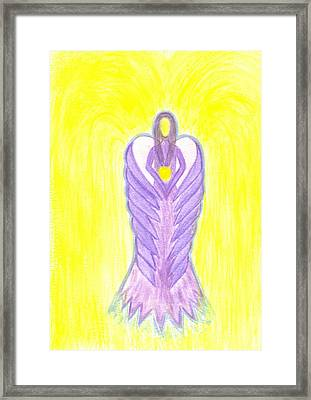 Angel Of Compassion Framed Print by Konstadina Sadoriniou - Adhen