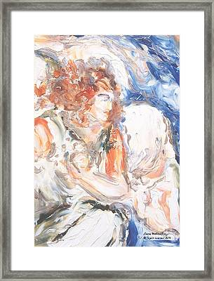 Angel Of Courage Framed Print