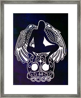 Angel Of Death Momento Mori Framed Print by Troy Beglinger
