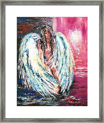 Angel Of Dreams Framed Print by Claude Marshall