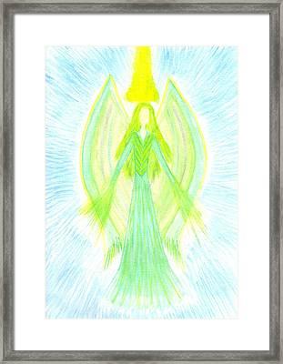 Angel Of Generosity Framed Print by Konstadina Sadoriniou - Adhen