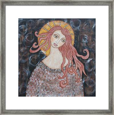 Angel Of Grace Framed Print by Rain Ririn