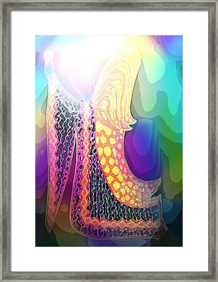 Angel Of Gratitude Framed Print by Mairin Gilmartin