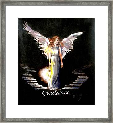 Angel Of Guidance Framed Print by Concept by Rev Kathleen L Dixon Artist Greg Crumbly