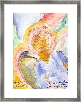 Angel Of Joy Framed Print by Kimberly Ware