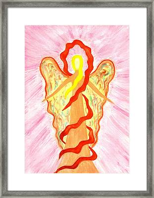 Angel Of Kindness Framed Print by Konstadina Sadoriniou - Adhen