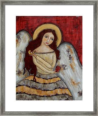 Angel Of Kindness Framed Print by Rain Ririn