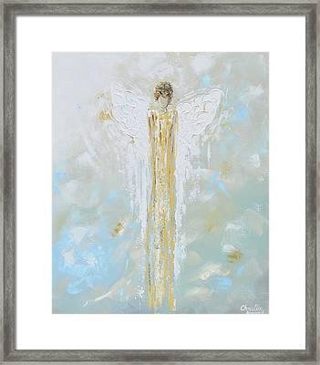 Angel Of Light Framed Print by Christine Krainock