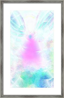 Angel Of Light Framed Print by Rosana Ortiz