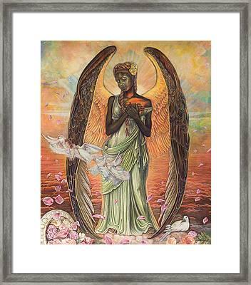 Angel Of Love Framed Print by Buena Johnson