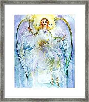 Angel Of Love Framed Print by Karen Showell