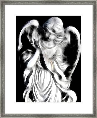 Framed Print featuring the digital art Angel Of Mercy by Holly Ethan